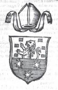 Stemma dei Dentice delle Stelle  (da 'Italia Sacra' di F. Ughelli)