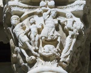 Capitello del chiostro del Duomo di Monreale - XII secolo